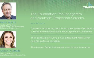 Engineering Value: Foundation™ Mounting System and Acumen Projection Screens™